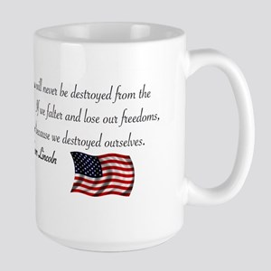 If We Falter Large Mug